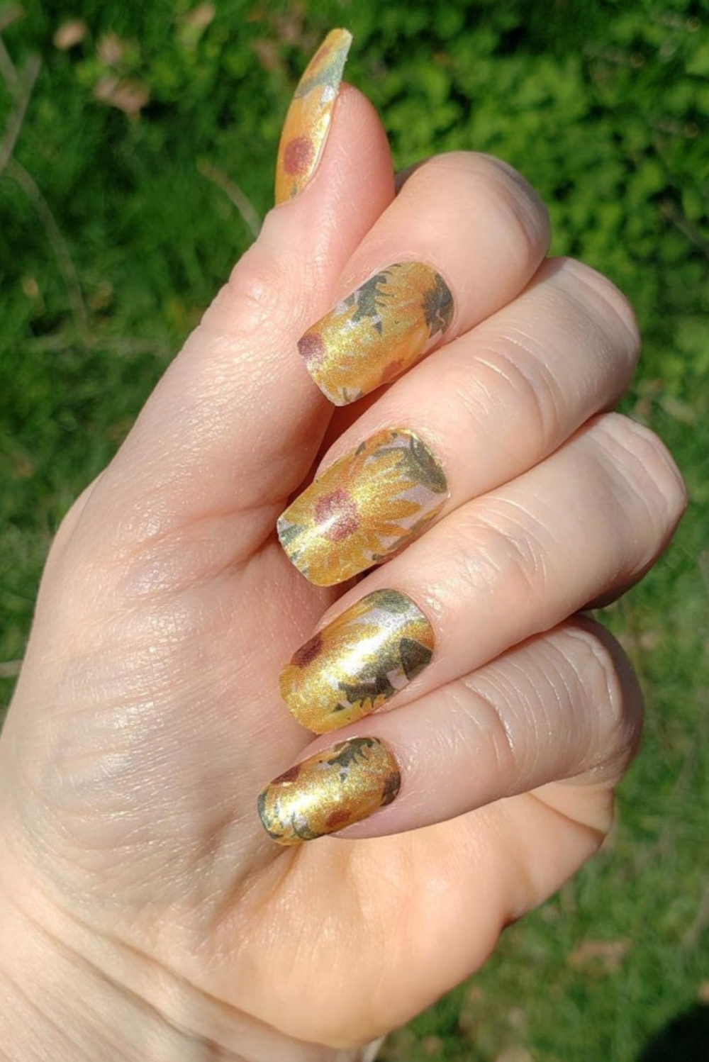 Summer Sunflower Nail Wraps