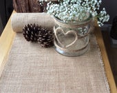 Natural Hessian Burlap Table Runner