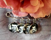 Groom memory photo lapel pin, 20mm Groom tie pin keepsake gift, groomsmen boutonniere photo frame charm gifts. Bride photo bouquet charm.