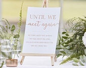 Wedding Memorial Sign and Easel, In Memory Of Sign, Memory Table Sign, Until We Meet Again Sign, Loving Memory Sign, Rose Gold Wedding
