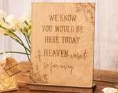 We know you would be here today if heaven wasnt so far away wedding sign wedding memorial remembrance sign wedding decor 18WS