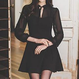 Long-Sleeved Mini Dress