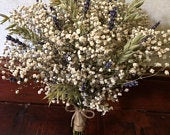 Dried Gypsophila bouquet, Dried flower bouquet, boho wedding bouquet, Dried bridal bouquet, rustic wedding bouquet, dried lavender bouquet