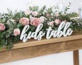 White Kids Table Wooden Sign, Wedding Kids Table, Rustic Wedding Decor, Country Wedding Decor, Wooden Wedding Signs, Wedding Signage