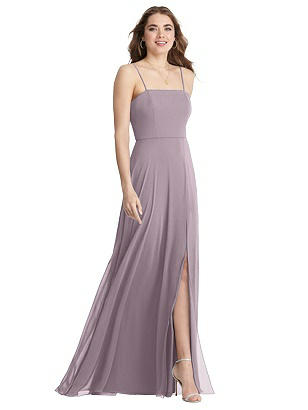 Special Order Square Neck Chiffon Maxi Dress with Front Slit - Elliott