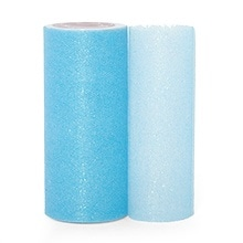 Light Blue Sparkling Tulle Roll Colored - 6 X 25yd - Fabric - Width: 6 by Paper Mart