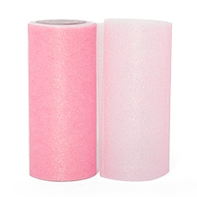 Pink Sparkling Tulle Roll Colored - 6 X 25yd - Fabric - Width: 6 by Paper Mart