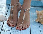 Bermuda Beach wedding barefoot sandals,Barefoot sandals,Bridal foot jewelry,Starfish barefoot sandles,Footless sandals,Bridesmaid gift