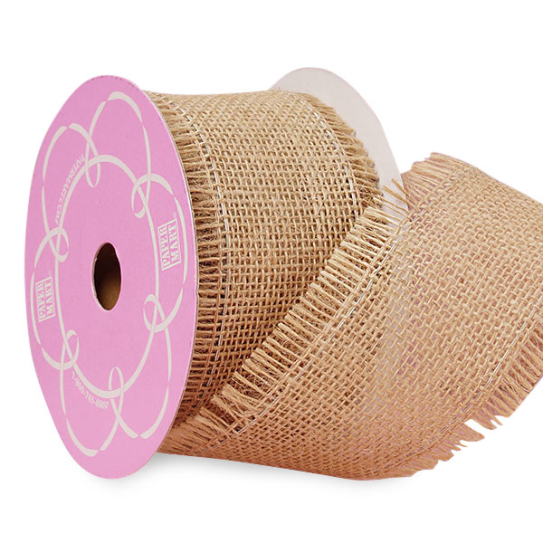"4"" X 10 Yards Mesh Natural Fine Burlap Ribbon by Ribbons.com"