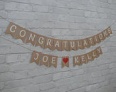 CONGRATULATIONS Bunting Banner, Ready in 1 day, For Wedding, Engagement or other Celebration.