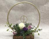 Hoop Wedding Center piece, perfect table setting for a Rustic Wedding. Ideal for florists and Stylists.