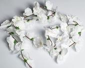 White Orchid Floral Garland, Arch Garland, Arch swag, Wedding Decorations , Flower Swag, daisy flower garland, Wedding flowers, Silk Flowers