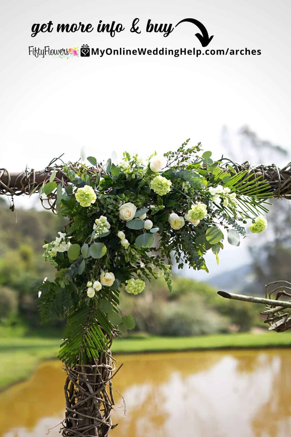 DIY Wedding Arch - The Bohemian Green wedding flowers collection