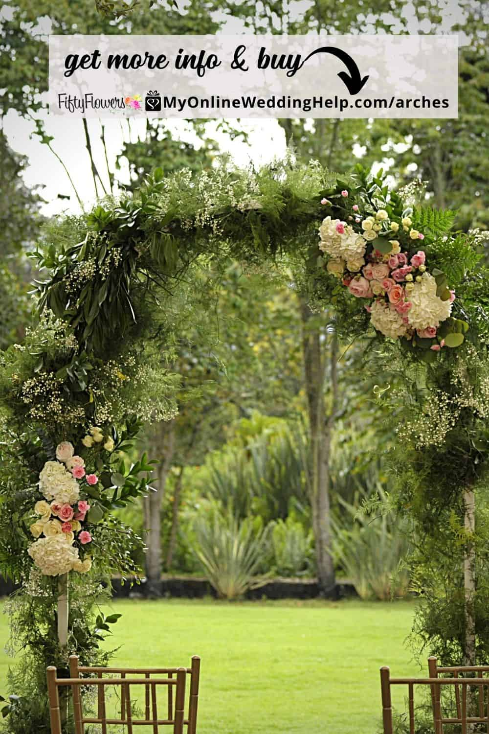 DIY Wedding Arch - The Blushing Love wedding flowers collection