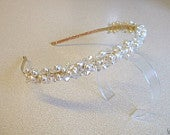 Anna tiara made with Swarovski Crystal Elements and Freshwater Pearls BRIDAL/PROM