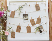 Wedding Peg and String Frame Guestbook / Wedding Guest Book / Wedding Photos / Party Decoration / Alternative Guest Book /Wedding Memories