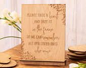 Wedding guest book sign for drop box guestbooks a rustic wooden sign for your alternative guest book, 02WS