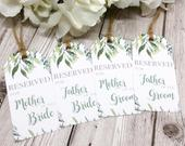 Foliage Wedding Reservation Cards Seat Signs Wedding Signs Floral Wedding Summer Wedding