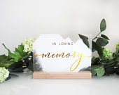 A5 In Loving Memory Wedding Sign Memorial table sign Acrylic wedding sign