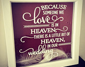 Wedding memorial shadow box wedding rememberence frame loved ones wedding wedding frame missed loved ones wedding