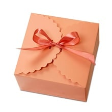 Pink Flower Edge Candy Box - 4-1/2 X 4-1/2 X 2-1/2 - Satin - Quantity: 25 - Favor Boxes by Paper Mart