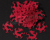 150 Red Chinese/Welsh Dragon Table Confetti