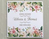 Peach Floral Greenery Wedding INVITATION Matching EVENING Invite Textured card Personalised Wording Gifts, Rsvp, Menu, Timeline of Day