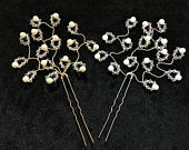 Crystal/Pearl Hair Pins Or Grips Bride Bridesmaids Wedding Prom Choose Amount Colour Made With Swarovski Crystals