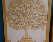 Guest book tree for weddings, birthdays etc in a solid wood frame ash, oak