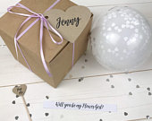 Personalised Balloon Proposal Box, Balloon Proposal, Wedding Keepsake, Will You Be My Bridesmaid, Bridesmaid Proposal, Balloon Pop