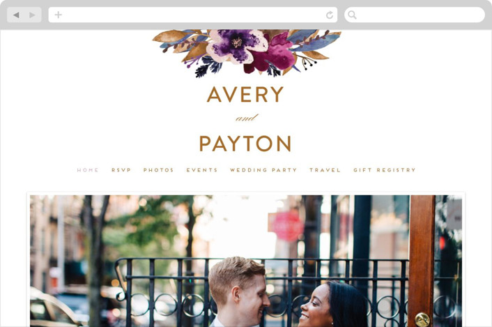 Fall Romance Wedding Websites
