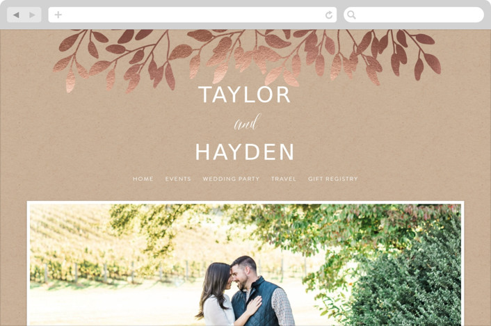 Fall In Love Wedding Websites