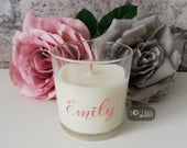Personalised Candle Name Scented Candle Birthday Gift Bridesmaid Box Engagement Favours Home Decor Thank You Gift Bridal Party