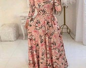 Long floral maxi dress perfect for any occasion