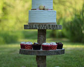 3 Tier Cupcake Stand Kit. Rustic and Ideal for parties and weddings