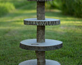 4 Tier Cupcake Stand Kit. Rustic and Ideal for parties and weddings