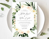 Blush And Ivory Wedding Invite Editable Template printable Invitation DIY Blush Wedding Invitation Blush and Ivory Instant Download Templett
