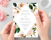 Blush Wedding Invitation Editable Template Blush And Soft Pink Invite printable Invitation Blush Wedding Invite Instant Download Templett