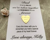 Personalised father/dad of bride wedding day keepsake gift from daughter