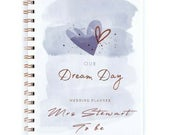 Personalised OUR DREAM DAY Wedding Planner Organiser Notebook