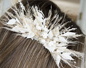 Dried flower hair comb Bridal flower comb Wedding hair Pampas grass hair flowers Floral comb Hair flowers Bridal dried flowers