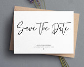 Modern Save The Date, Simple Save The Date Cards, Save The Date, Save The Date invites, Elegant Save The Dates, Wedding Date Card, 081