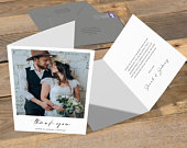 Folded Thank You Card, Photo Thank You Cards, Thank You Cards Wedding Photo, Wedding Thank You Cards, Thank You Cards Wedding, Custom