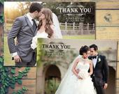 10 Landscape Full Photo Wedding Thank You Cards Personalised Mr and Mr With Printed Photos Mr Mrs Folded Blank Flat Postcards Mrs and Mrs