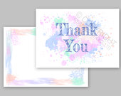 1100 Pack of Thank You Cards Postcards Notes Envelopes A6 Thankyou Watercolor Design A6