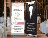 FREE POSTAGE, Wedding Welcome Sign, Large Wedding Roller Banner, Roll Up Banner, Bride and Groom, Wedding Decorations, Custom Wedding Banner