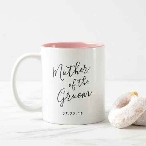 Elegantly Penned Mother of the Groom Two-tone Coffee Mug