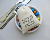 Personalized Wedding Favor Bags, Love is Sweet, diy Candy Favor Gifts for Guests
