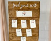 WEDDING TABLE PLAN Wooden Rustic Table Plan