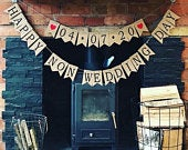 Happy non wedding day bunting corona banner